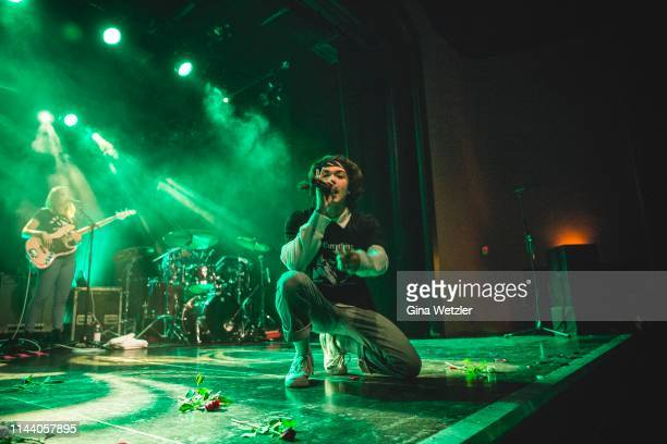 American singer Conan Gray performs onstage at Columbia Theater on May 16, 2019 in Berlin, Germany.