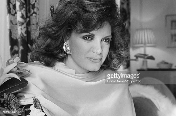 American singer Connie Francis posed in London on 18th April 1985