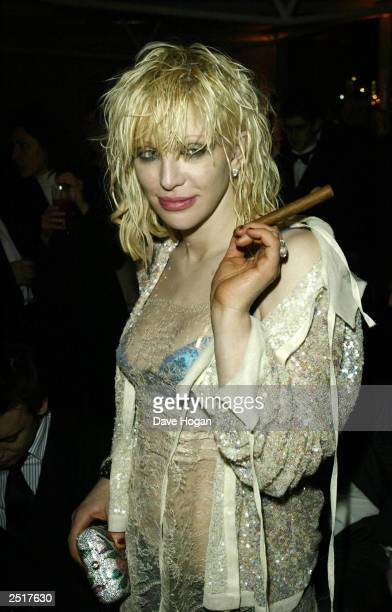 American singer Courtney Love attends the Fundraiser After Party after the Grand Concert for the Old Vic Theatre in Old Billingsgate Market on...