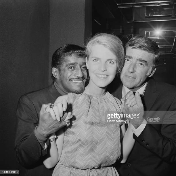 American singer dancer actor and comedian Sammy Davis Jr English actress Ilona Rodgers and British actor Peter Lawford costars in comedy film 'Salt...