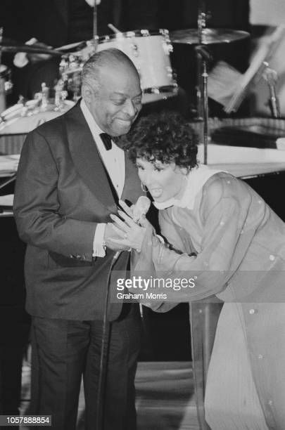 American singer dancer actress and civil rights activist Lena Horne and American jazz pianist organist bandleader and composer Count Basie giving a...