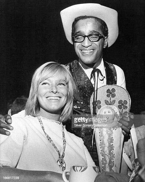 American singer dancer and actor Sammy Davis Jnr with his first wife Swedish actress May Britt circa 1967