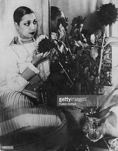 American singer, dancer and entertainer Josephine Baker . Original Publication: People Disc -