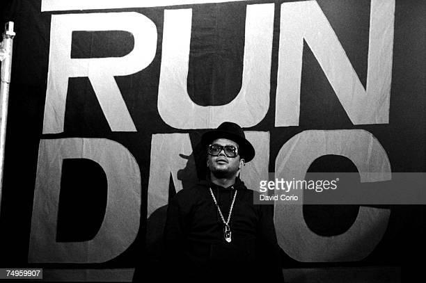 American singer Darryl McDaniels of hip hop group RunDMC at Hammersmith Odeon London UK 13 September 1986