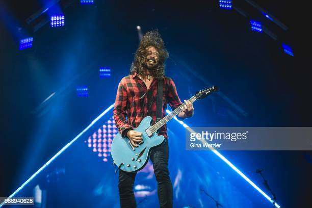 American singer Dave Grohl of Foo Fighters performs live on stage during Rock am Ring at Nuerburgring on June 3 2018 in Nuerburg Germany