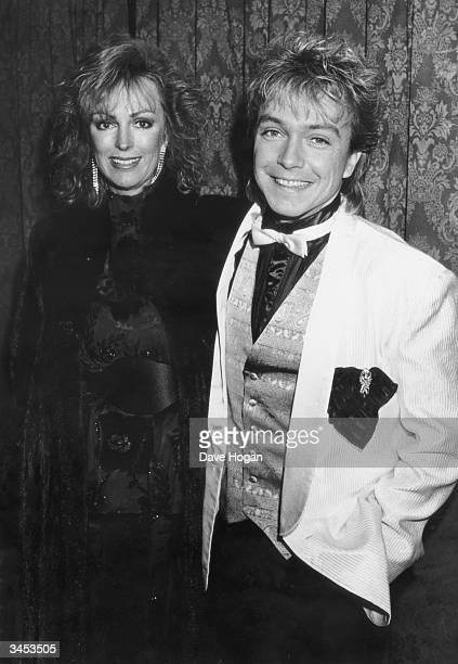 American singer David Cassidy with his second wife Meryl Tanz circa 1985