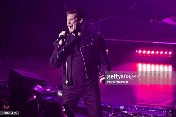 American singer David Hasselhoff performs live on stage during a concert at the Friedrichstadtpalast on April 30 2018 in Berlin Germany