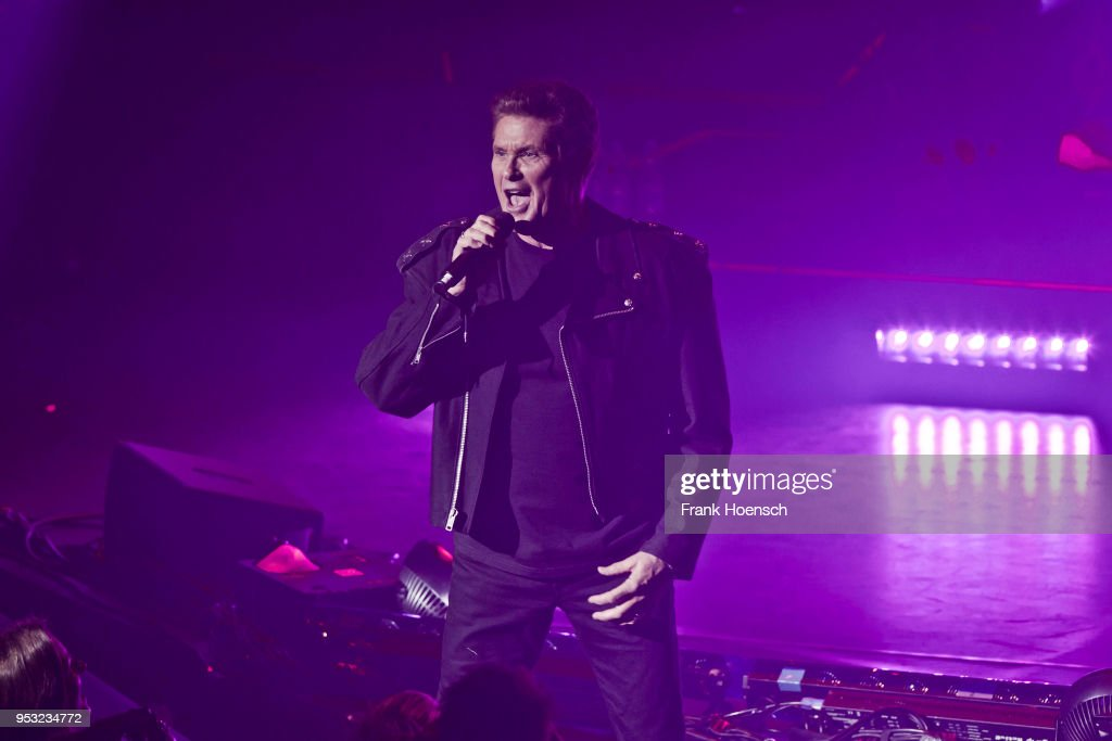 American singer David Hasselhoff performs live on stage during a concert at the Friedrichstadtpalast on April 30, 2018 in Berlin, Germany.