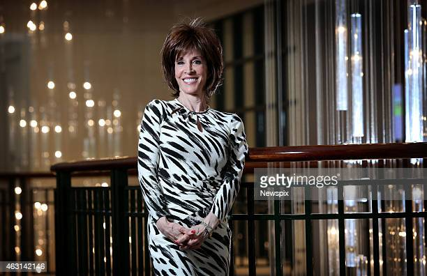 American singer Deana Martin daughter of legendary crooner Dean Martin poses during a photo shoot at the Pullman Hotel on February 9 2015 in Sydney...