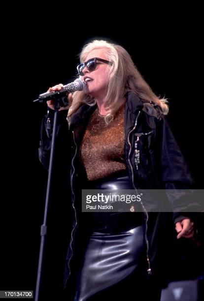 American singer Debbie Harry of the band Blondie performs on stage Chicago Illinois August 3 1999