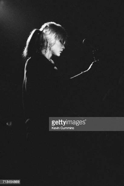 American singer Debbie Harry performing with Blondie at King George's Hall in Blackburn 23rd February 1978