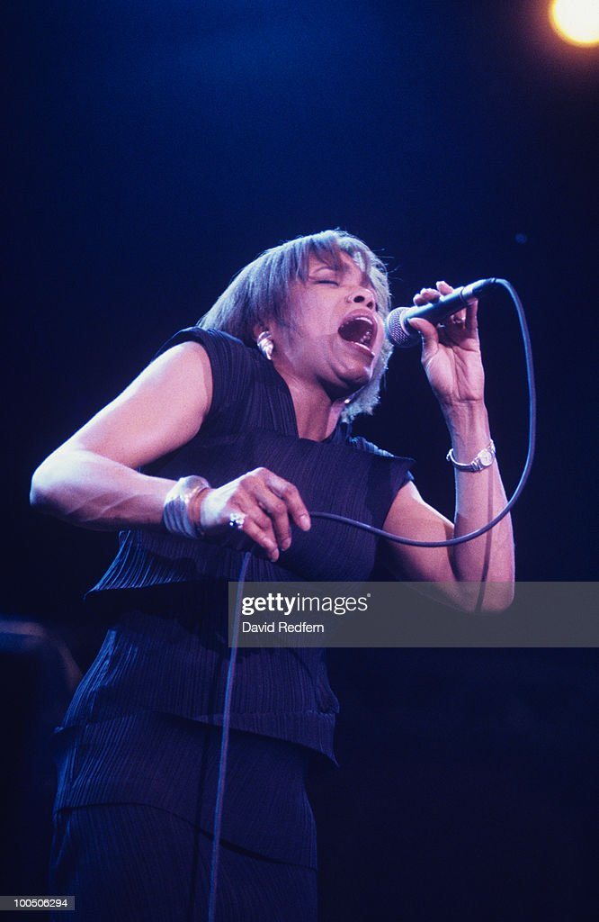 American singer Dee Dee Bridgewater performs on stage at the Jazz A Vienne Festival held in Vienne, France in July 1995.