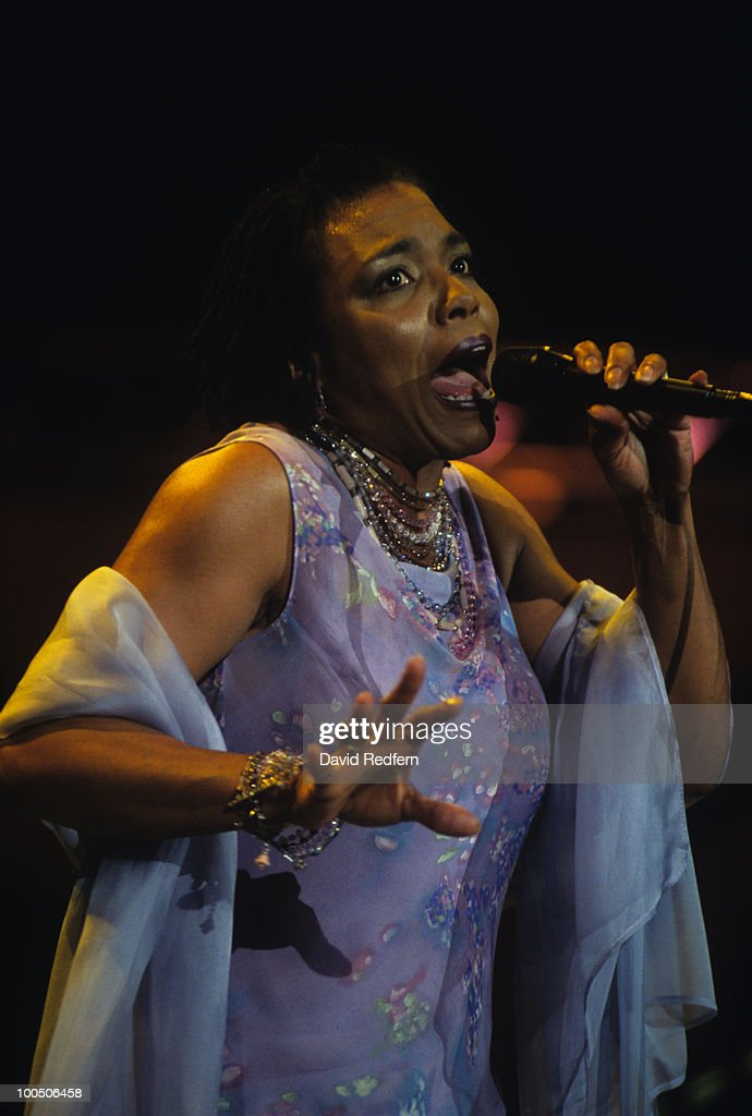 American singer Dee Dee Bridgewater performs on stage at the Jazz A Vienne Festival held in Vienne, France in July 2001.