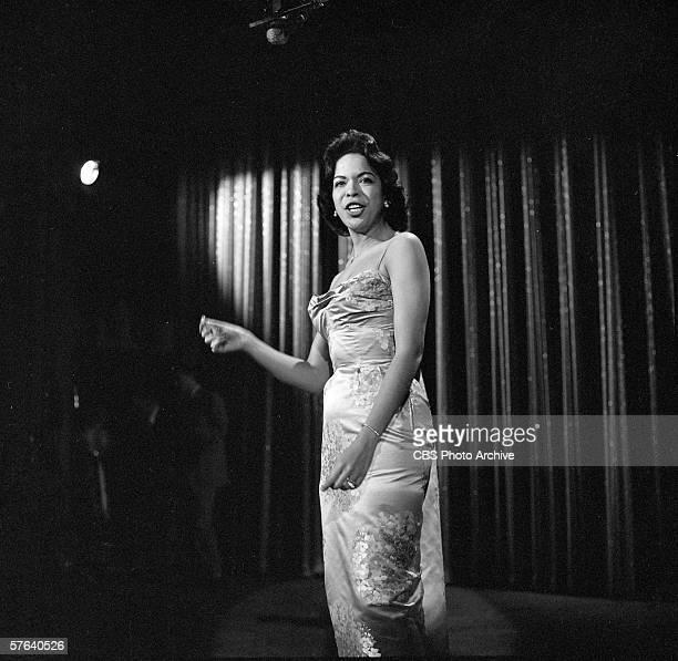 American singer Della Reese sings on 'The Ed Sullivan Show' New York New York December 15 1957