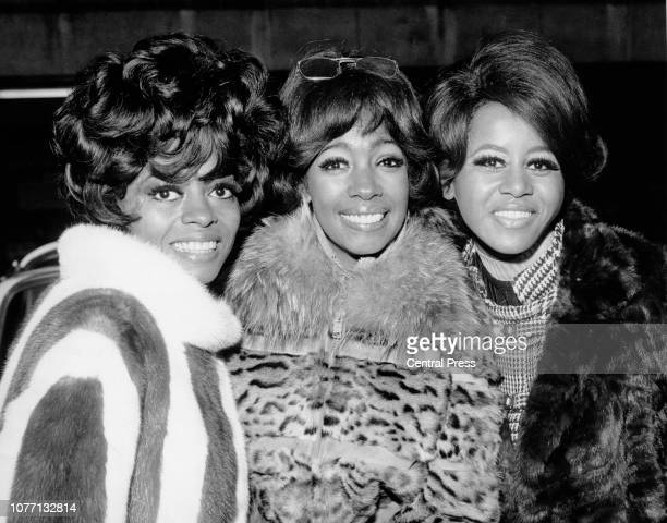 American singer Diana Ross and The Supremes attend a reception in their honour in EMI House London 23rd January 1968 They are in London for a twoweek...