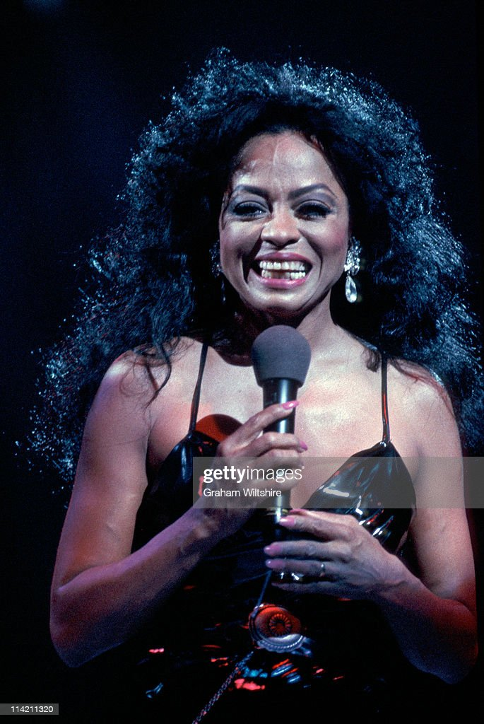 American singer Diana Ross in concert at Wembley Arena, London, July 1994.