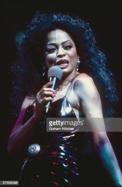 American singer Diana Ross in concert at Wembley circa 1994