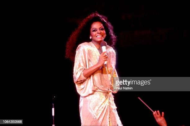 American singer Diana Ross performs on stage at the Rosemont Horizon in Rosemont Illinois September 4 1982
