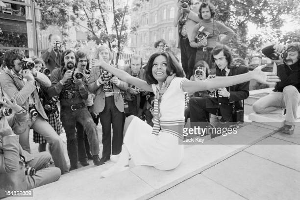 American singer Diana Ross poses for photographers in London 15th September 1973