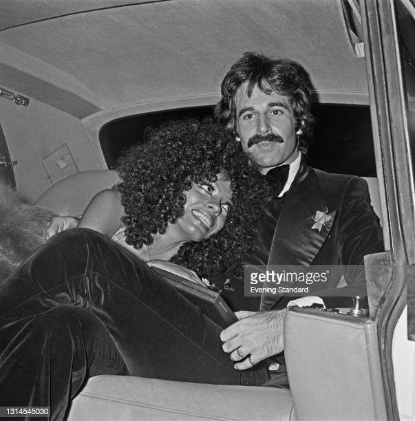 American singer Diana Ross with her husband, music executive Robert Ellis Silberstein aka Bob Ellis, UK, 24th September 1973.