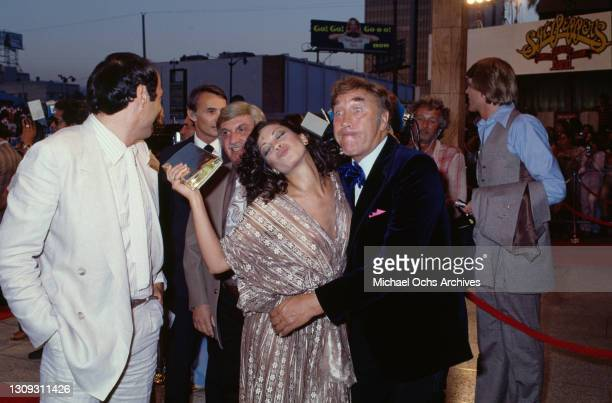 American singer Dianne Steinberg and British comedian Frankie Howerd among unspecified guests attending the Los Angeles premiere of 'Sgt Pepper's...