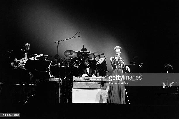 American singer Dionne Warwick performing at Radio City Music Hall New York City 12th June 1980