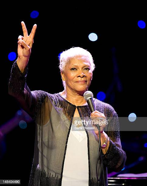 Dionne Warwick performs during the World Hunger Day in Support Of The Hunger Project concert with Dionne Warwick and friends at The Royal Albert Hall...
