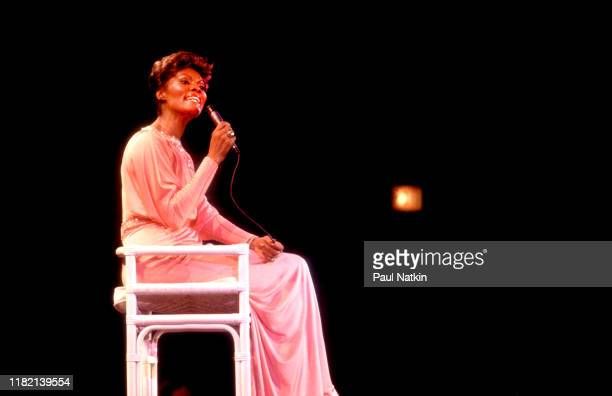 American singer Dionne Warwick performs on stage at the Park West in Chicago Illinois November 27 1979
