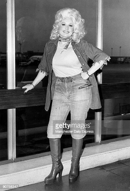American singer Dolly Parton in Britain