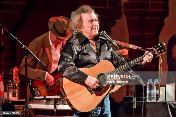 American singer Don McLean performs live on stage during a concert at the Passionskirche on October 8 2018 in Berlin Germany