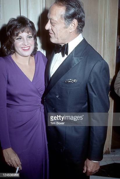 American singer entertainer and cabaret star Lorna Luft the daughter of Judy Garland is pictured with her father Sid after the opening night...