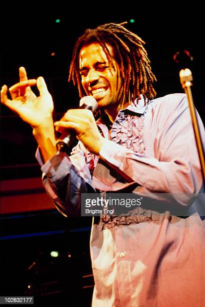American singer Eric Benet performs on stage in 1999
