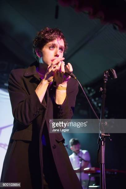 American singer Ezra Furman performs live on stage during a concert at the Festsaal Kreuzberg on February 15, 2018 in Berlin, Germany.