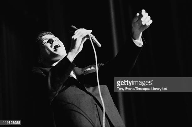 American singer Frank Sinatra Jr performs with the Tommy Dorsey Orchestra 1964