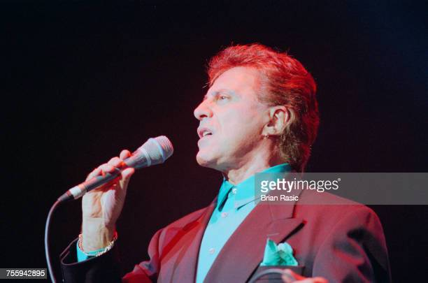American singer Frankie Valli former front man of The Four Seasons performs live on stage in London in October 1994