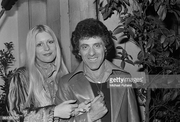 American singer Frankie Valli with his second wife MaryAnn Hannigan London April 1976
