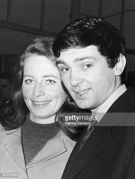 American singer Gene Pitney and his wife Lynne at London Airport, February 1967.