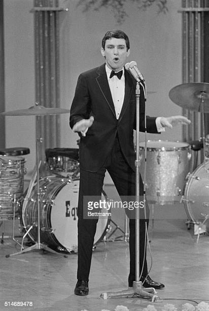 American singer Gene Pitney competes at the annual San Remo Song Festival in San Remo Italy