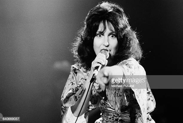 American singer Grace Slick performing with American rock group Jefferson Starship New York USA September 1978