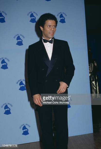 American singer Gregory Abbott attends the 32nd Annual Grammy Awards, held at the Shrine Auditorium in Los Angeles, California, 21st February 1990.