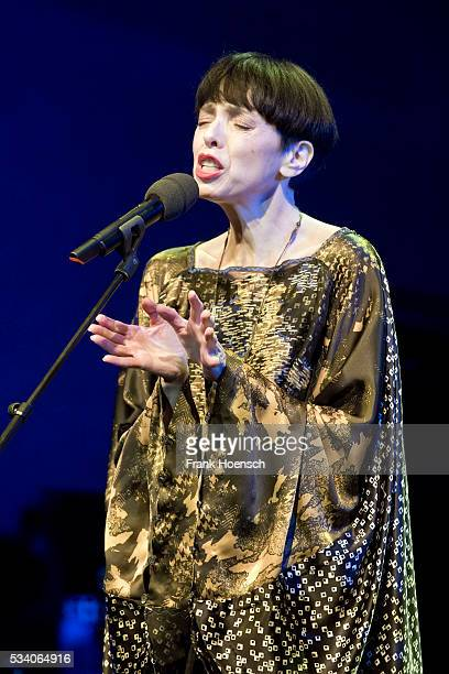 American singer Helen Schneider performs live during a tribute concert to Bob Dylan at the Wintergarten on May 24, 2016 in Berlin, Germany.