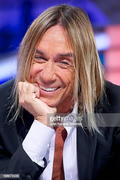 American singer Iggy Pop attends 'El Hormiguero' Tv show at Vertice Studio on May 13 2013 in Madrid Spain