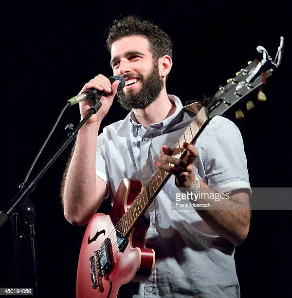 American singer Imaginary Future performs live in support of Kina Grannis during a concert at the Frannz on June 6 2014 in Berlin Germany