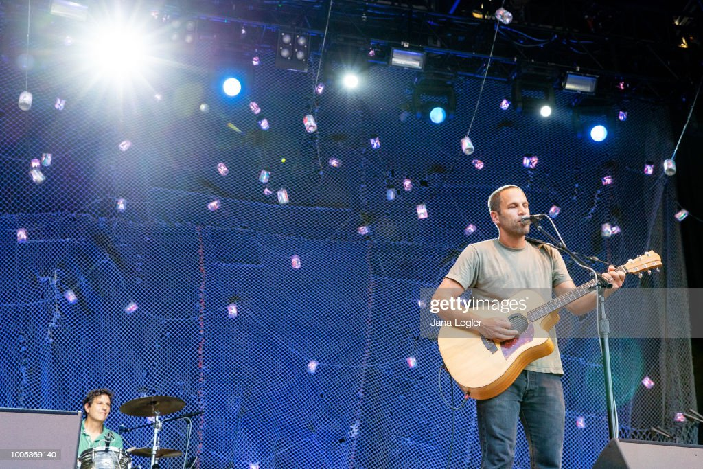 American singer Jack Johnson performs live onstage at
