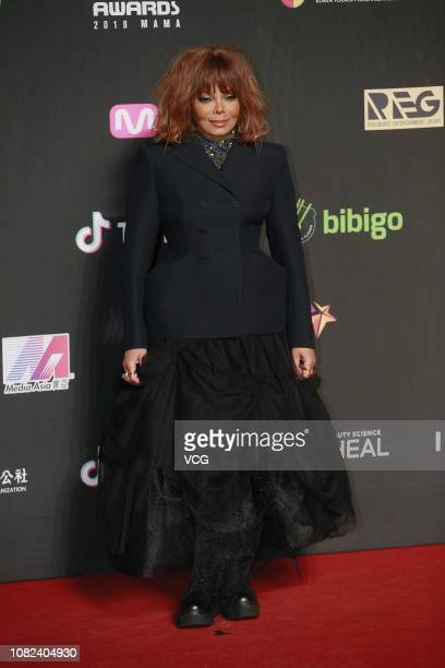 American singer Janet Jackson attends 2018 Mnet Asian Music Awards at the Asia World Expo on December 14 2018 in Hong Kong China