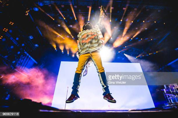 American singer Jared Leto of Thirty Seconds to Mars performs live on stage during Rock am Ring at Nuerburgring on June 1, 2018 in Nuerburg, Germany.