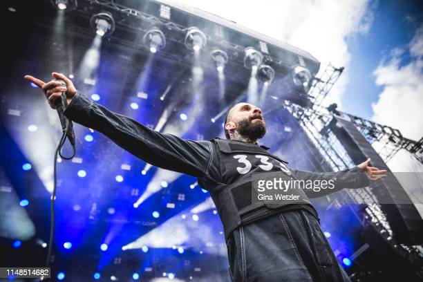 American singer Jason Butler of FEVER 333 performs live on stage during Rock am Ring at Nuerburgring on June 8, 2019 in Nuerburg, Germany.
