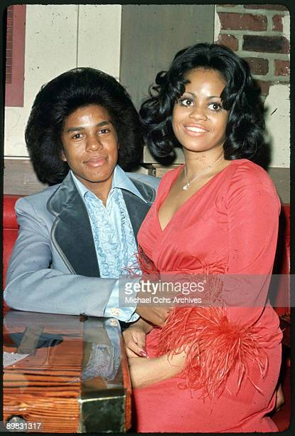 American singer Jermaine Jackson with Hazel Gordy the daughter of Motown founder Berry Gordy circa 1973 The pair were married on 15th December 1973