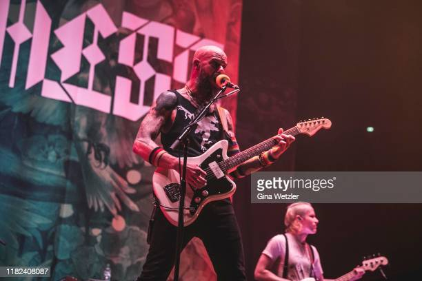 American singer John Baizley of Baroness performs live on stage during a concert in support of Volbeat at Lanxess Arena on November 14 2019 in...