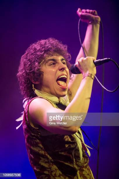 American singer Joshua Kiszka of Greta Van Fleet performs live on stage during a concert at Columbiahalle on November 7, 2018 in Berlin, Germany.